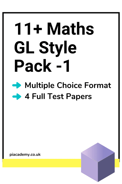 11 Plus GL Maths Papers Pack 1 with answers