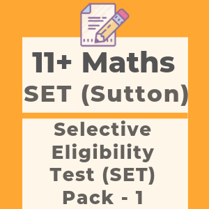 11 Plus Maths SET Style Pack 1