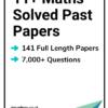 11+ Maths Solved Past Papers