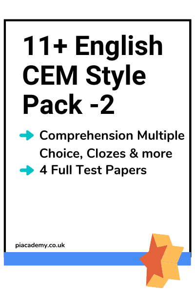 11 Plus CEM English Papers Pack 2 with answers