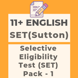 11 Plus English SET Style Pack 1
