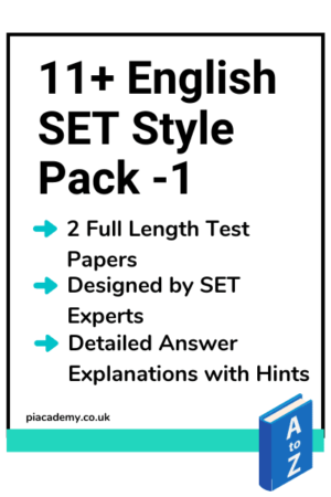 11 Plus SET English Papers Pack 1 with answers