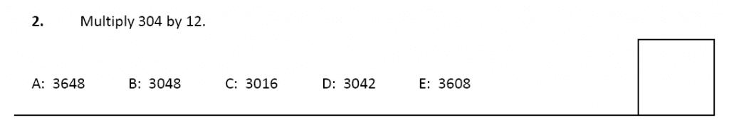 11 plus Latymer Upper School Maths Sample Paper 2 - 2020 Question 02