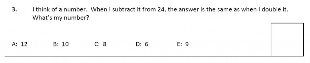 11 plus Latymer Upper School Maths Sample Paper 2 - 2020 Question 03