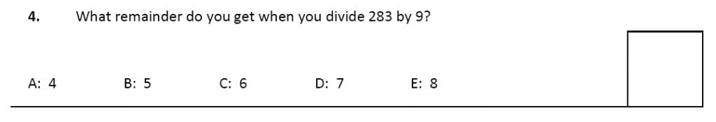 11 plus Latymer Upper School Maths Sample Paper 2 - 2020 Question 04