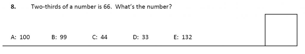 11 plus Latymer Upper School Maths Sample Paper 2 - 2020 Question 08