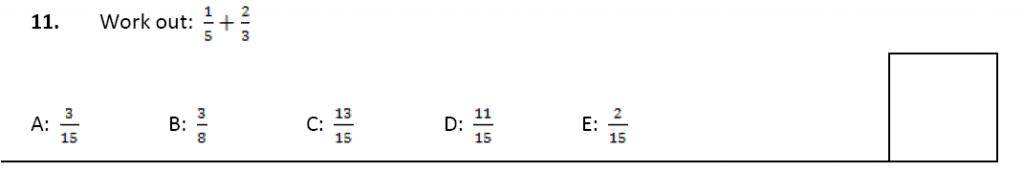 11 plus Latymer Upper School Maths Sample Paper 2 - 2020 Question 11