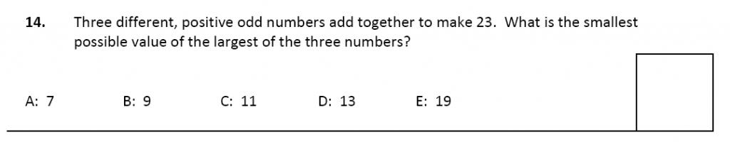 11 plus Latymer Upper School Maths Sample Paper 2 - 2020 Question 14