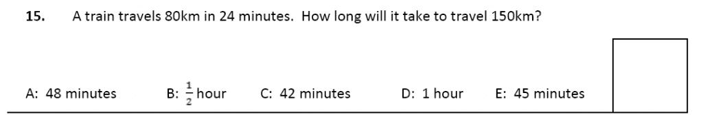 11 plus Latymer Upper School Maths Sample Paper 2 - 2020 Question 15