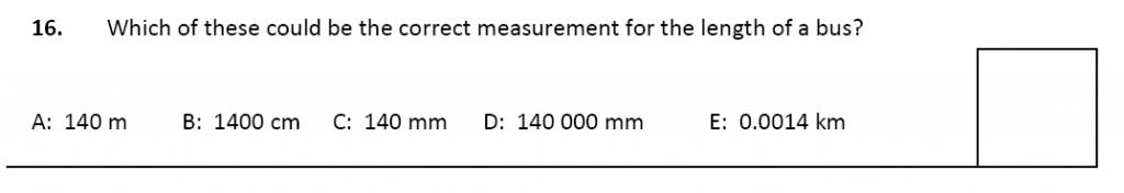11 plus Latymer Upper School Maths Sample Paper 2 - 2020 Question 16