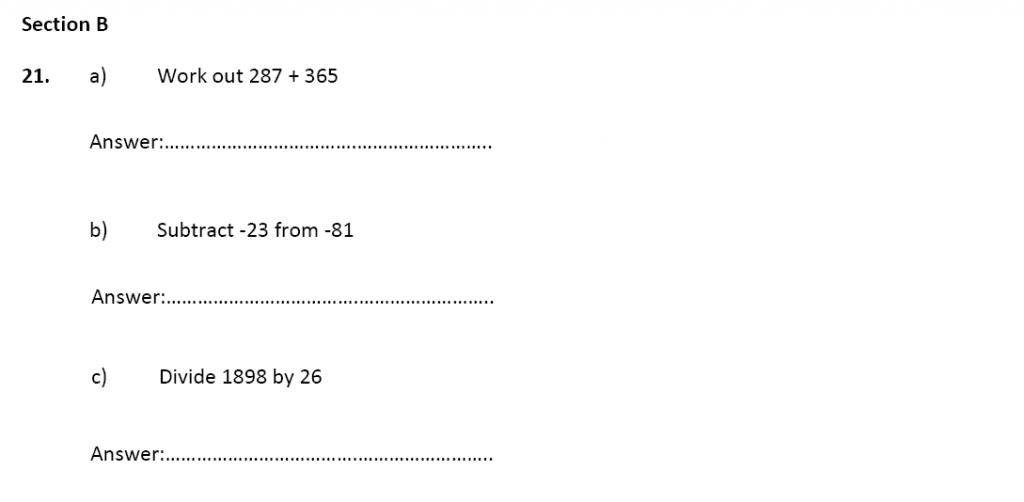 11 plus Latymer Upper School Maths Sample Paper 2 - 2020 Question 21