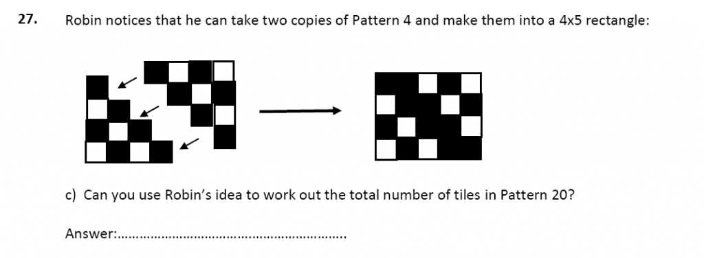 11 plus Latymer Upper School Maths Sample Paper 2 - 2020 Question 31