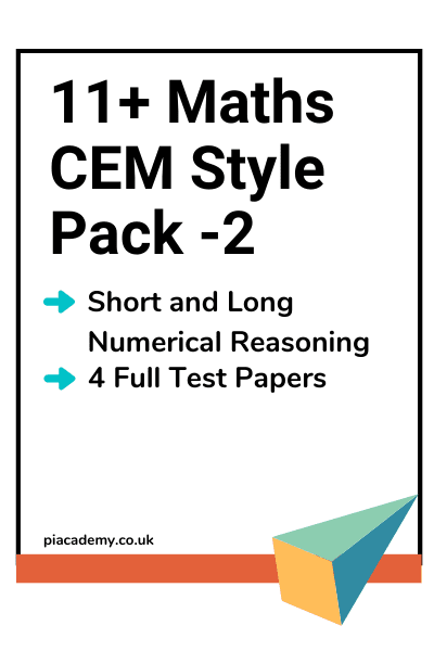 11 Plus CEM Maths Papers Pack 2 with answers