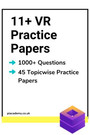 11 Plus Verbal Reasoning Practice Papers