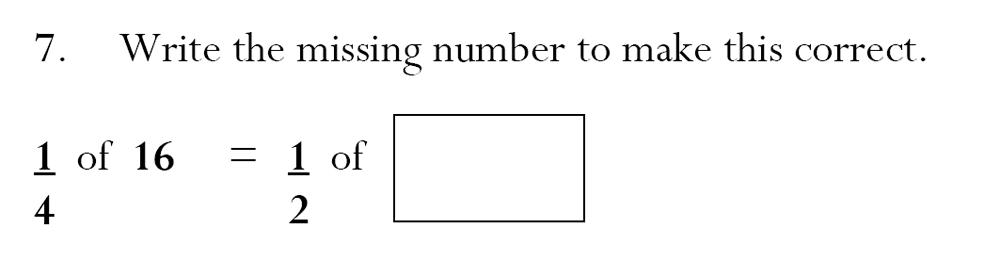 Magdalen College School - 7 Plus Maths Sample Paper Question 07
