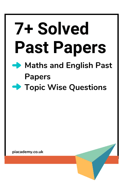 7 Plus Maths and English Solved Past Papers