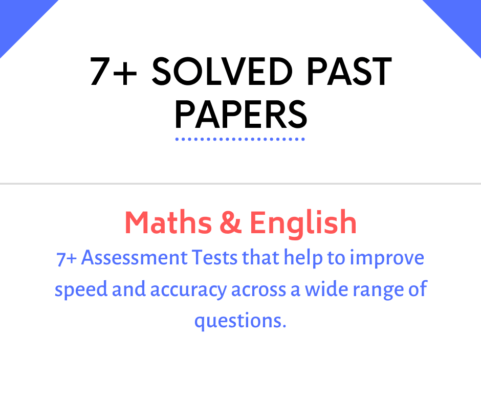 7 plus past papers with answers demo 1