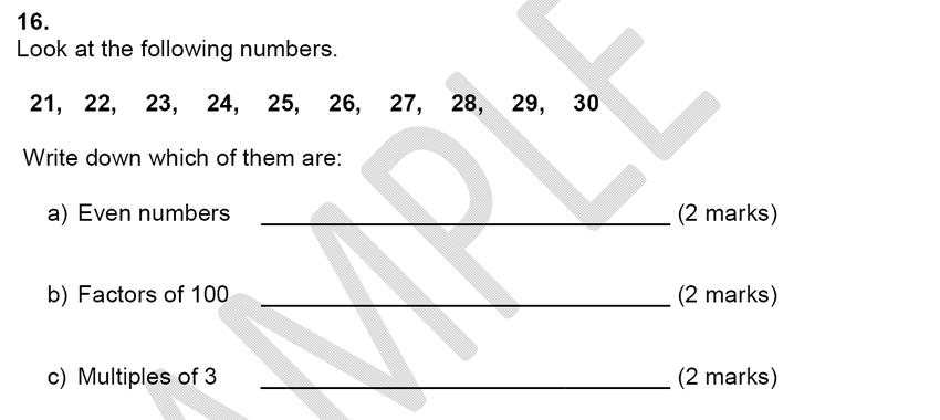 Alleyn's School - 9 Plus Maths Sample Paper Question 16