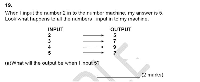 Alleyn's School - 9 Plus Maths Sample Paper Question 21