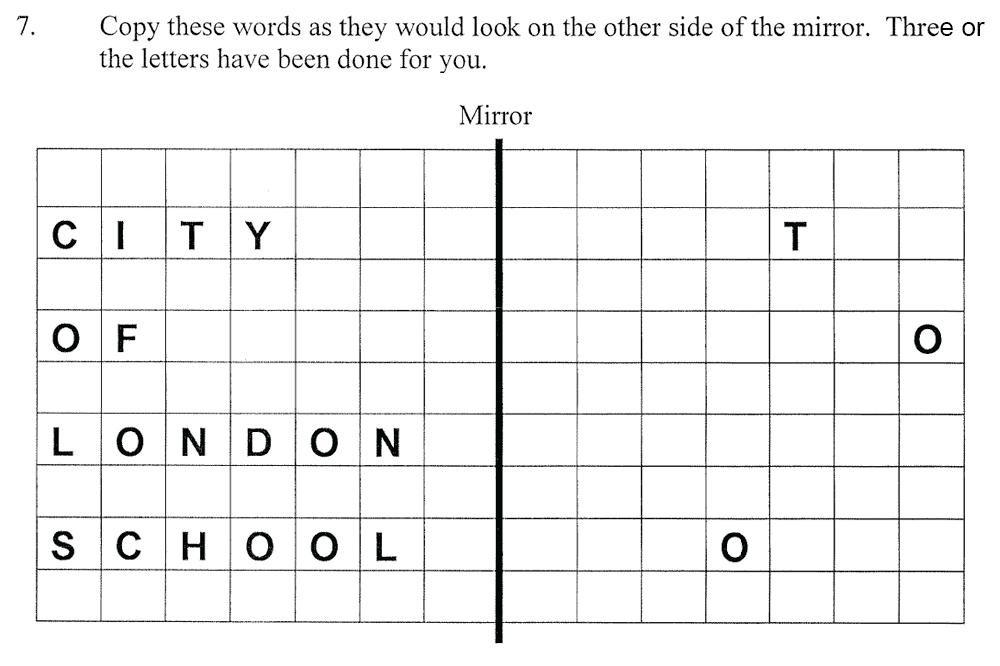 City of London School - 10 Plus Maths Practice Paper Question 10