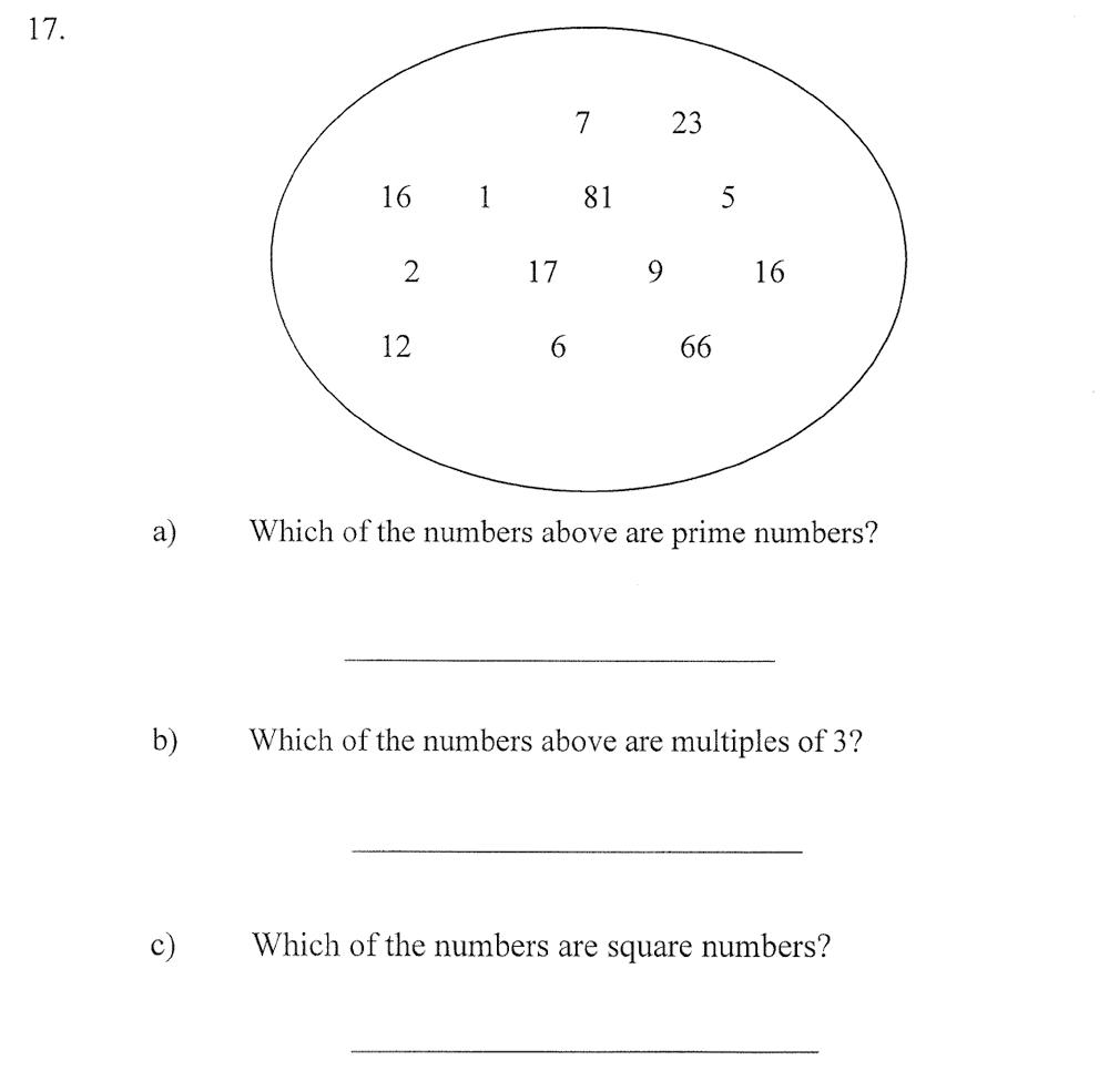 City of London School - 10 Plus Maths Practice Paper Question 23
