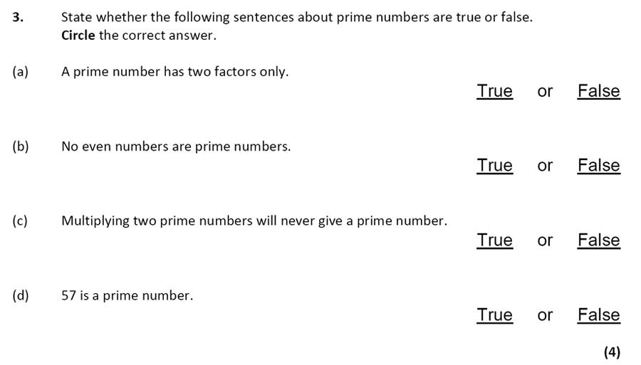City of London School - 10 Plus Specimen Maths Paper Question 03