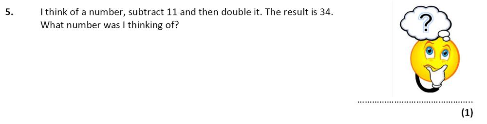 City of London School - 10 Plus Specimen Maths Paper Question 06