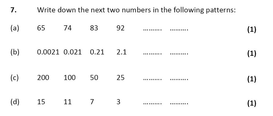 City of London School - 10 Plus Specimen Maths Paper Question 08