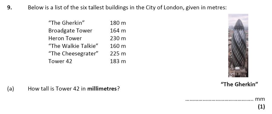 City of London School - 10 Plus Specimen Maths Paper Question 10