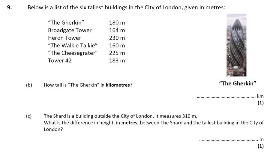 City of London School - 10 Plus Specimen Maths Paper Question 11