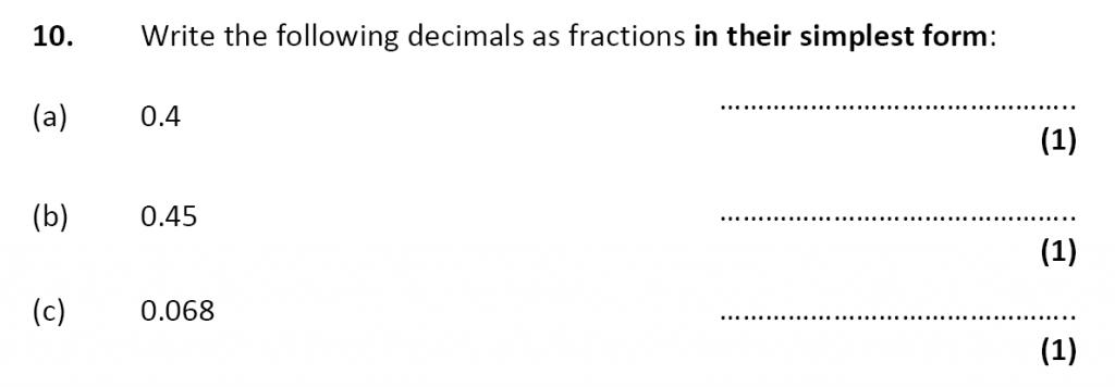 City of London School - 10 Plus Specimen Maths Paper Question 12