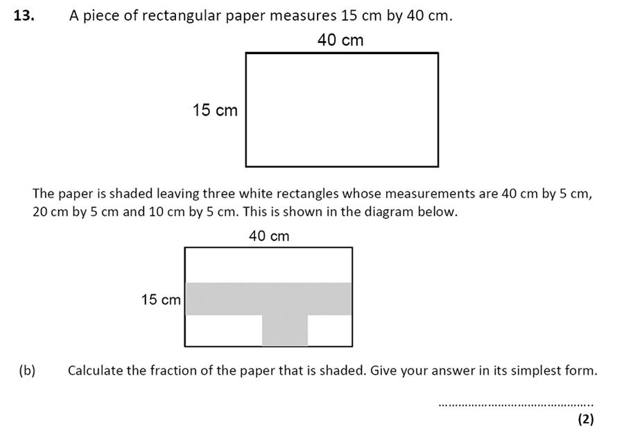 City of London School - 10 Plus Specimen Maths Paper Question 16
