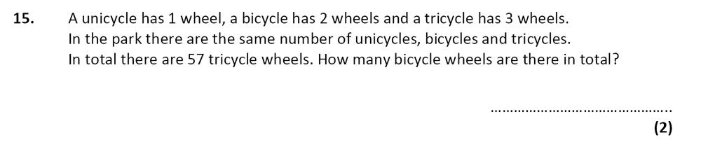 City of London School - 10 Plus Specimen Maths Paper Question 18