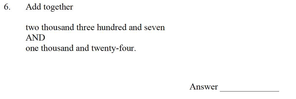 Emanuel School - 10 Plus Maths Entrance Exam Paper Question 07