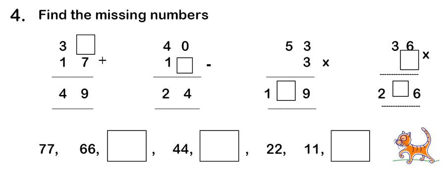 Haberdashers' Aske's Boys' School (HABS) - 7 Plus Maths Question 14