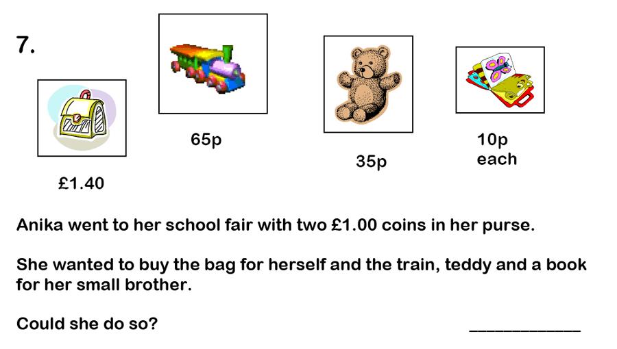 Haberdashers' Aske's Boys' School (HABS) - 7 Plus Maths Question 18
