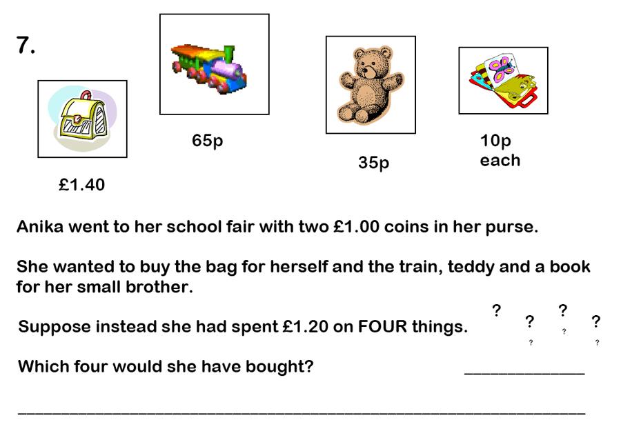 Haberdashers' Aske's Boys' School (HABS) - 7 Plus Maths Question 23
