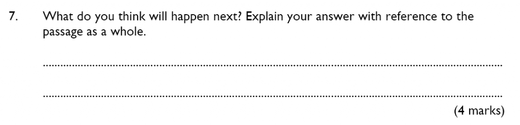 King's College School - 10 Plus English Reading Specimen Paper 2015 Question 07