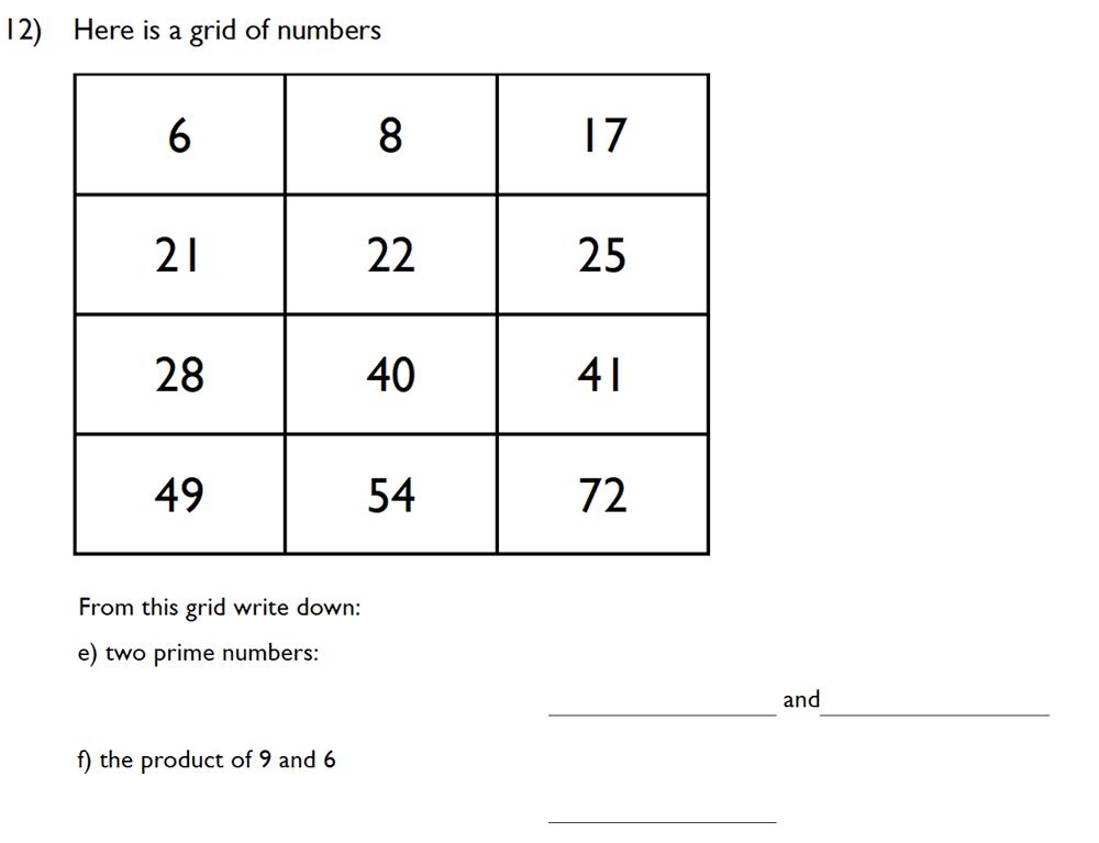 King's College School - 10 Plus Maths Specimen Paper Group D Question 14