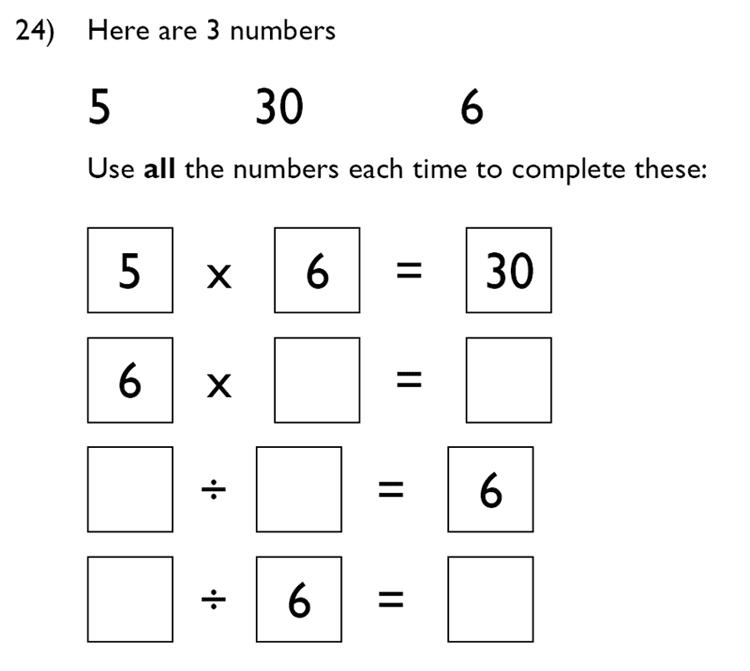 King's College School - 7 Plus Maths Specimen Paper Question 24