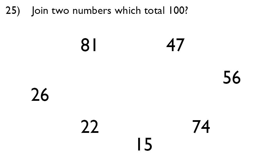 King's College School - 7 Plus Maths Specimen Paper Question 25