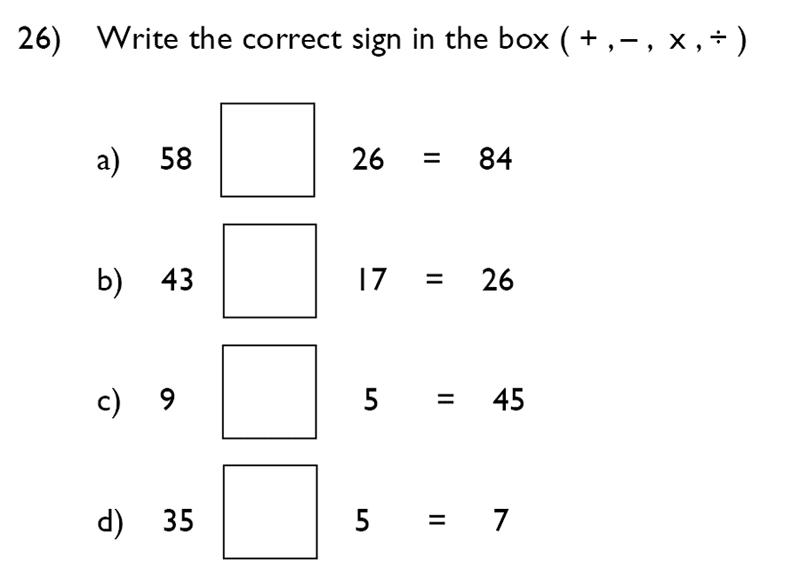 King's College School - 7 Plus Maths Specimen Paper Question 26