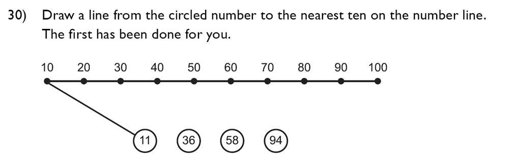 King's College School - 7 Plus Maths Specimen Paper Question 30