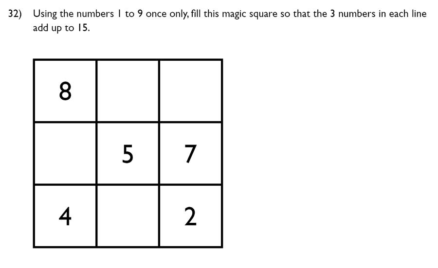King's College School - 7 Plus Maths Specimen Paper Question 32