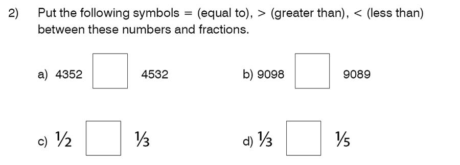 King's College School - 8 Plus Maths Specimen Paper Question 02