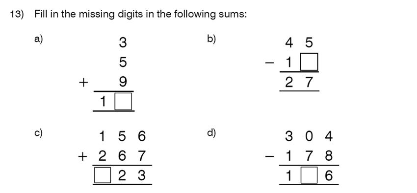 King's College School - 8 Plus Maths Specimen Paper Question 13