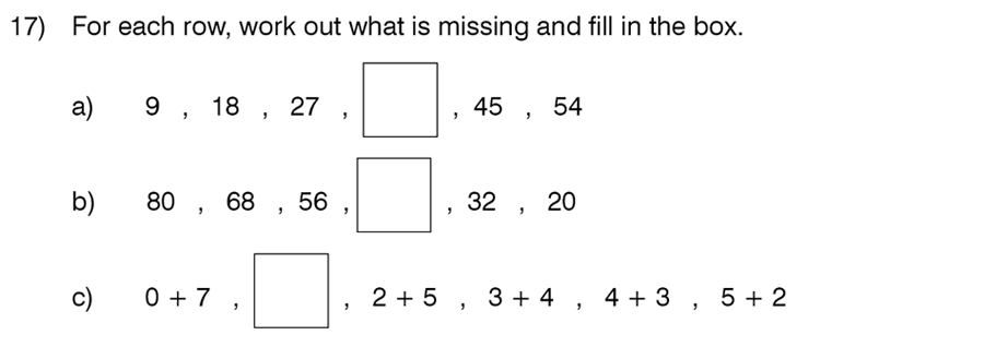 King's College School - 8 Plus Maths Specimen Paper Question 17
