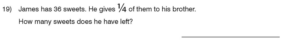 King's College School - 8 Plus Maths Specimen Paper Question 19