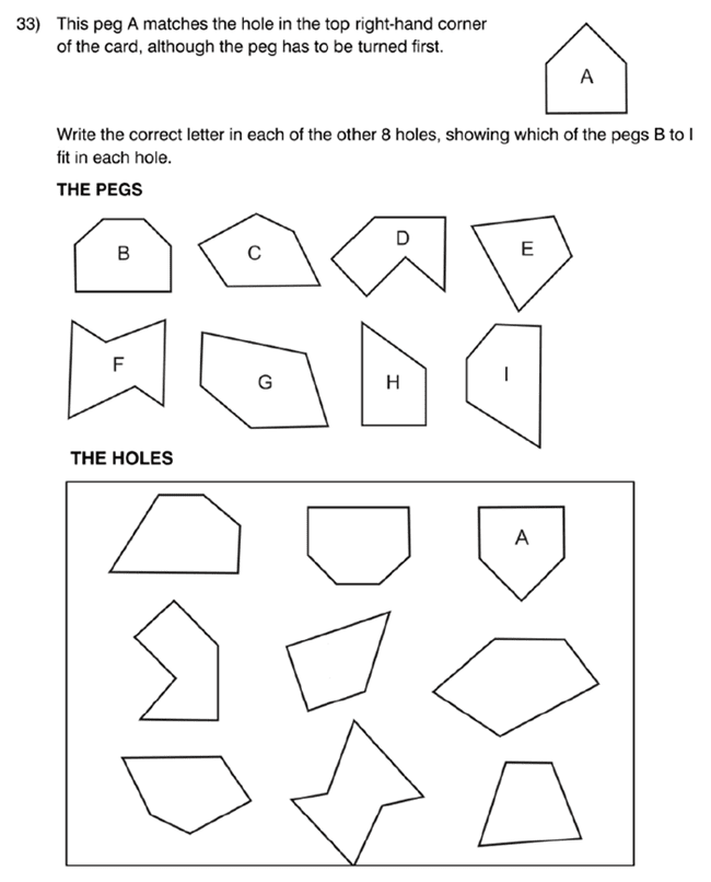 King's College School - 8 Plus Maths Specimen Paper Question 35