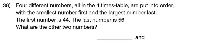 King's College School - 8 Plus Maths Specimen Paper Question 41
